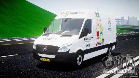 Mercedes-Benz Sprinter Euro 2012 for GTA 4 back view