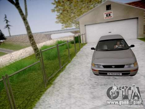 Toyota Corolla for GTA San Andreas inner view