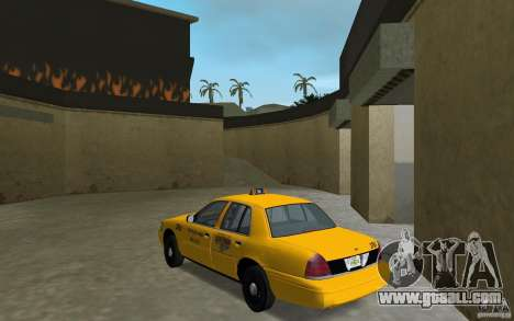 Ford Crown Victoria Taxi for GTA Vice City back left view