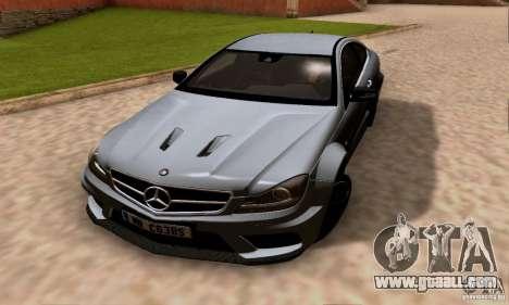 Mercedes-Benz C63 AMG for GTA San Andreas upper view