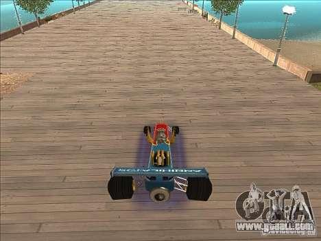 Dragg car for GTA San Andreas back view