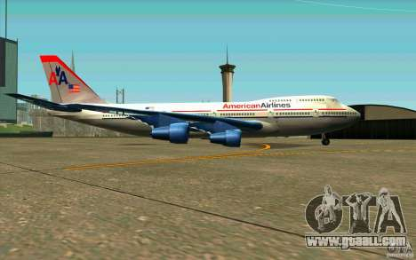 B-747 American Airlines Skin for GTA San Andreas back left view