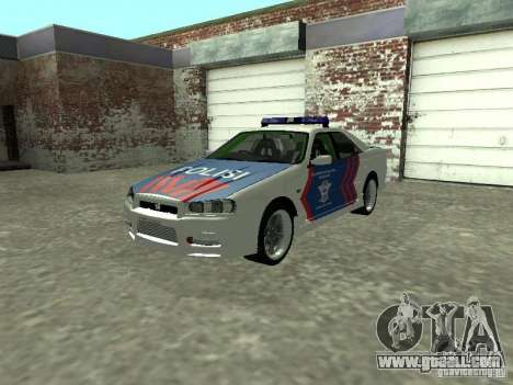 Nissan Skyline Indonesia Police for GTA San Andreas