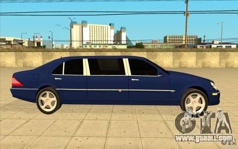 Mercedes-Benz S600 Pullman W220 for GTA San Andreas inner view
