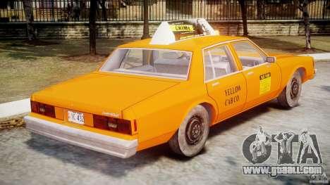 Chevrolet Impala Taxi v2.0 for GTA 4 upper view