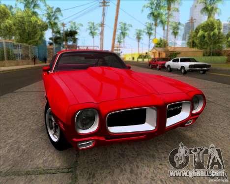 Pontiac Firebird 1970 for GTA San Andreas