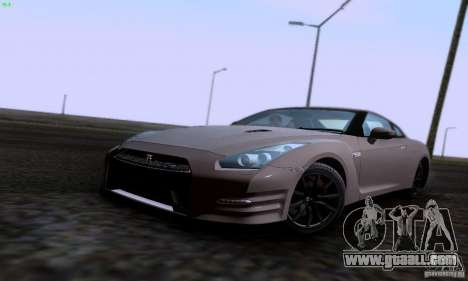 Nissan GTR R35 Tuneable for GTA San Andreas