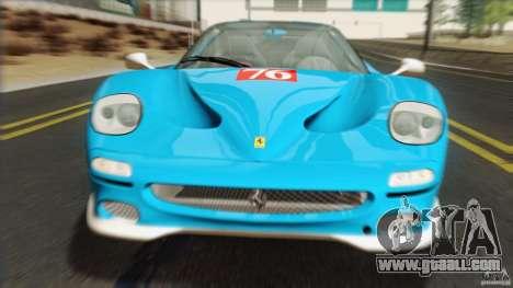 Ferrari F50 v1.0.0 Road Version for GTA San Andreas back view