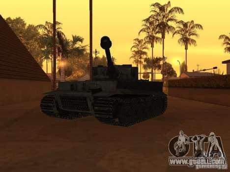 Pzkpfw VI Tiger for GTA San Andreas right view
