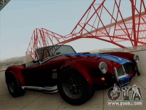 Shelby Cobra 427 for GTA San Andreas engine