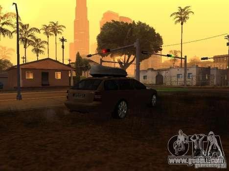 Skoda Octavia for GTA San Andreas inner view