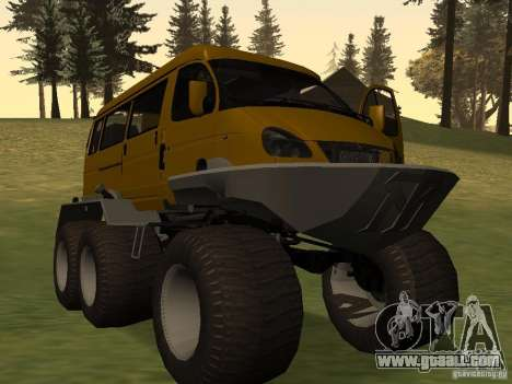 Gazelle 2705 swamp buggy for GTA San Andreas back left view