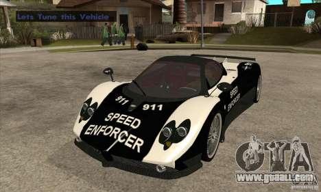 Pagani Zonda F Speed Enforcer BETA for GTA San Andreas