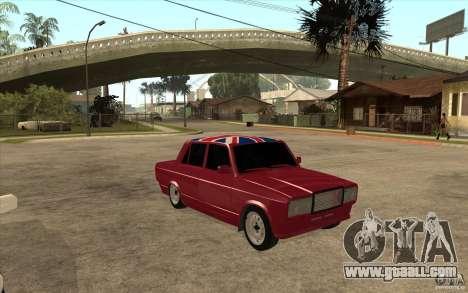 VAZ 2107 Hobo v. 2 for GTA San Andreas back view