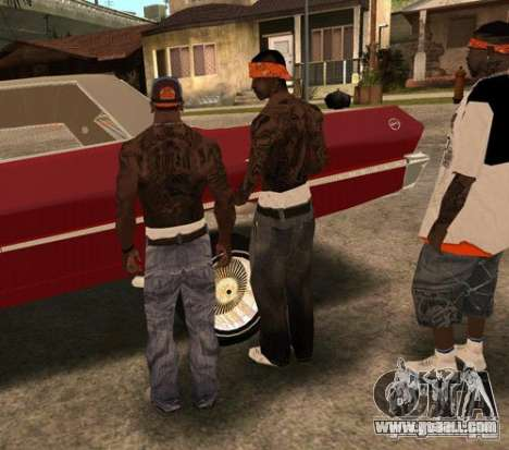 Replacement bands, tattoos, clothing, etc. for GTA San Andreas ninth screenshot