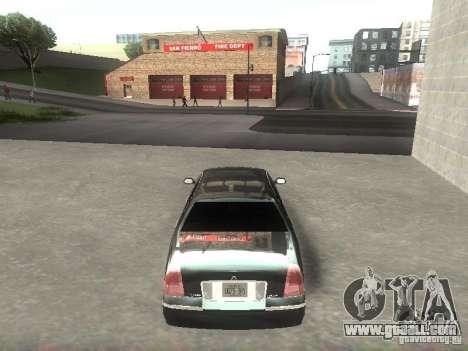 Lincoln Town car sedan for GTA San Andreas right view