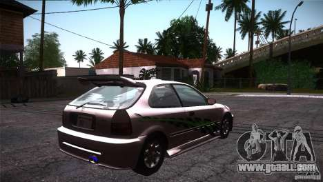 Honda Civic Tuneable for GTA San Andreas