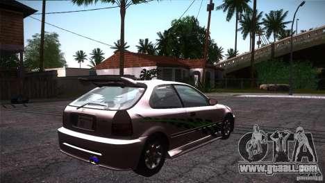 Honda Civic Tuneable for GTA San Andreas