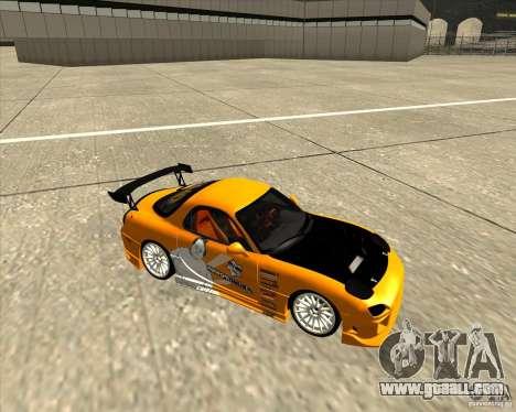Mazda RX-7 sumopoDRIFT for GTA San Andreas back view