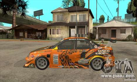 Subaru Impreza D1 WRX Yukes Team Orange for GTA San Andreas left view