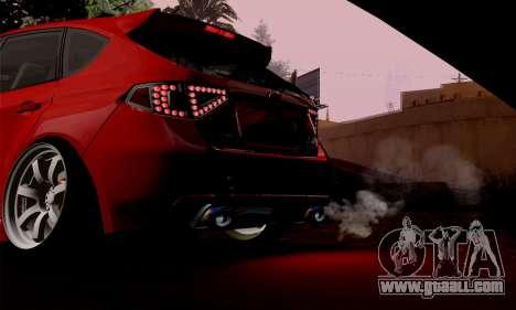Subaru Impreza WRX Camber for GTA San Andreas right view
