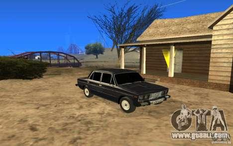 VAZ 2106 Tyumen for GTA San Andreas back left view