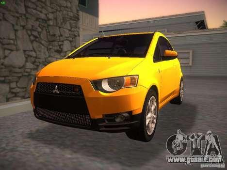 Mitsubishi Colt Rallyart for GTA San Andreas back view