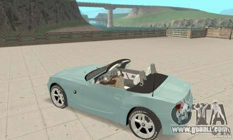 BMW Z4 Roadster 2006 for GTA San Andreas upper view