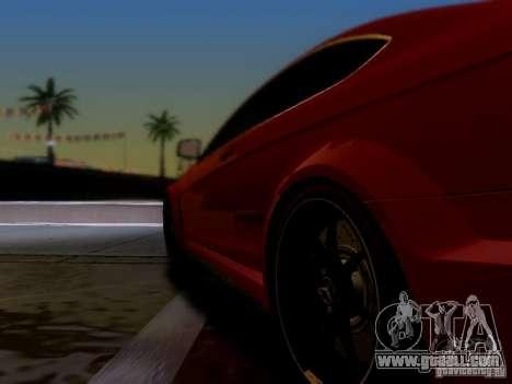 Mercedes Benz C63 AMG C204 Black Series V1.0 for GTA San Andreas back left view