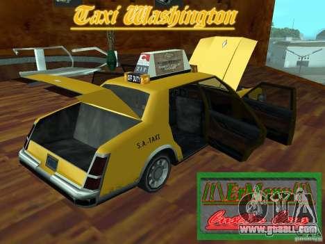 Taxi Washington for GTA San Andreas back view