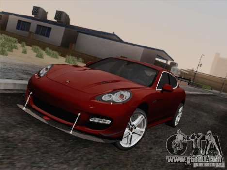 Porsche Panamera Turbo 2010 for GTA San Andreas back view