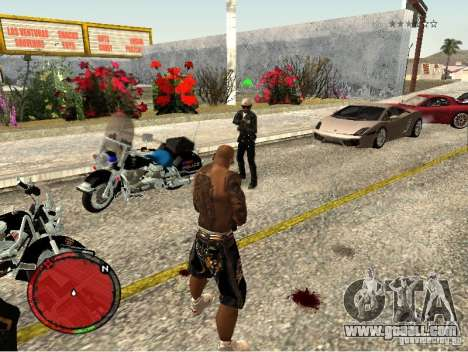 GTA IV HUD v1 by shama123 for GTA San Andreas fifth screenshot