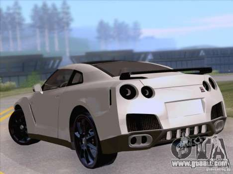 Nissan GTR Edited for GTA San Andreas back left view