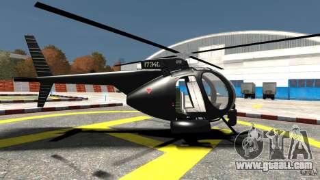 AH-6 LittleBird Helicopter for GTA 4 left view