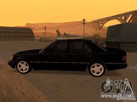 Mercedes-Benz E250 V1.0 for GTA San Andreas upper view