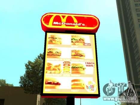 Mc Donalds for GTA San Andreas twelth screenshot