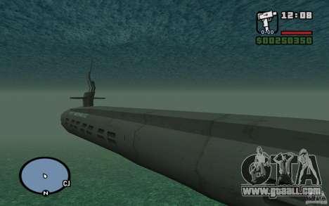 Submarine for GTA San Andreas