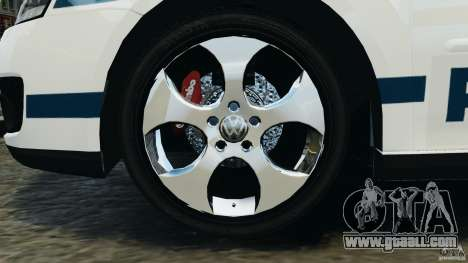 Volkswagen Golf 5 GTI South African Police [ELS] for GTA 4 inner view