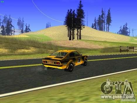 Opel Kadett for GTA San Andreas back view