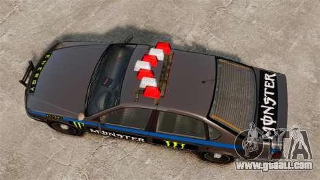 Police Monster Energy for GTA 4 back view