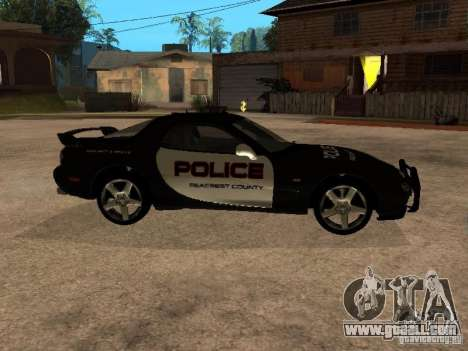 Mazda RX-7 Police for GTA San Andreas left view