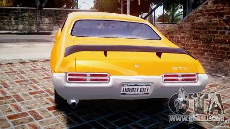 Pontiac GTO Judge for GTA 4 back left view