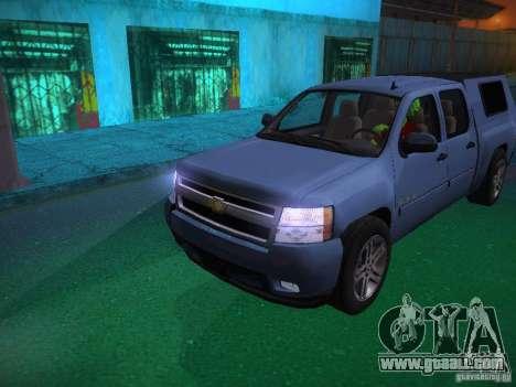 Chevrolet Silverado for GTA San Andreas engine