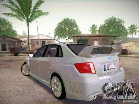 Subaru Impreza WRX STI 2011 Sedan for GTA San Andreas left view