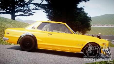 Nissan Skyline 2000 GT-R for GTA 4 left view