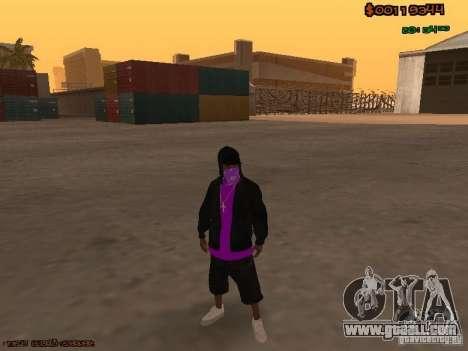Ballas skins for GTA San Andreas second screenshot