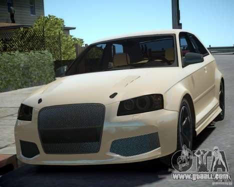 Audi S3 v2.0 for GTA 4 back left view