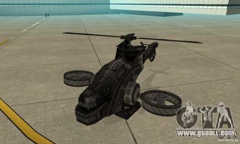 A helicopter from the game TimeShift Black for GTA San Andreas left view