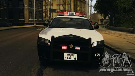 Dodge Charger Japanese Police for GTA 4 inner view