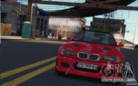 BMW M3 Street Version e46 for GTA 4 back view